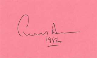 Autographs: EDWARD ALBEE - SIGNATURE(S) 1982