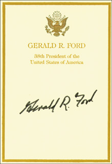 PRESIDENT GERALD R. FORD - BOOK PLATE SIGNED