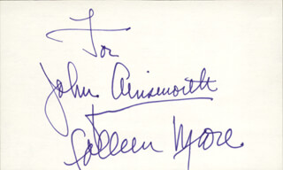 COLLEEN MOORE - INSCRIBED SIGNATURE