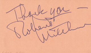 ROBERT MITCHUM - AUTOGRAPH SENTIMENT SIGNED