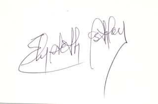 ELIZABETH ASHLEY - AUTOGRAPH