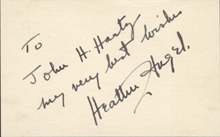 HEATHER G. ANGEL - AUTOGRAPH NOTE SIGNED