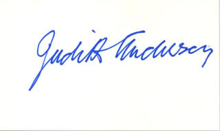 DAME JUDITH ANDERSON - AUTOGRAPH