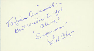 KIRK ALYN - AUTOGRAPH NOTE SIGNED