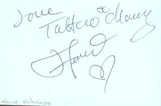 HERVE VILLECHAIZE - AUTOGRAPH NOTE SIGNED