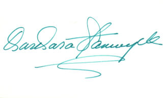 BARBARA STANWYCK - AUTOGRAPH