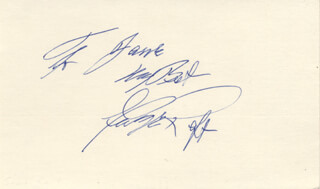 GEORGE RAFT - AUTOGRAPH NOTE SIGNED
