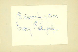 MARY PICKFORD - AUTOGRAPH SENTIMENT SIGNED
