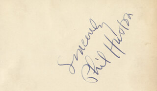 PHILIP HUSTON - AUTOGRAPH SENTIMENT SIGNED