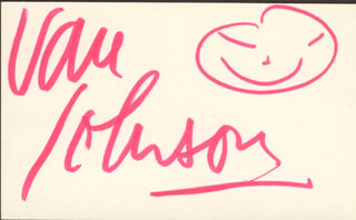 VAN JOHNSON - SELF-CARICATURE SIGNED
