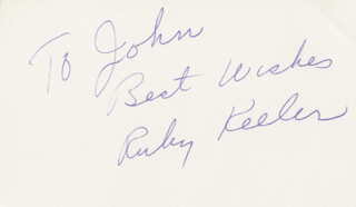 RUBY KEELER - AUTOGRAPH NOTE SIGNED