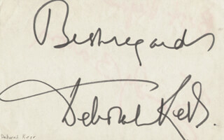 DEBORAH KERR - AUTOGRAPH SENTIMENT SIGNED CO-SIGNED BY: SANDY BARON