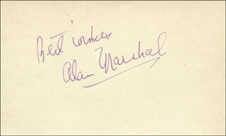 ALAN MARSHAL - AUTOGRAPH SENTIMENT SIGNED