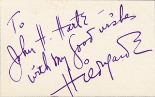 HILDEGARDE - AUTOGRAPH NOTE SIGNED