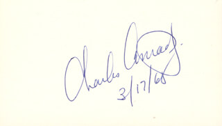 Autographs: CAPTAIN CHARLES PETE CONRAD JR. - SIGNATURE(S) 03/17/1968