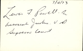 ASSOCIATE JUSTICE LEWIS F. POWELL JR. - AUTOGRAPH