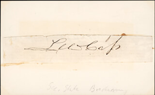 Autographs: LEWIS CASS - CLIPPED SIGNATURE