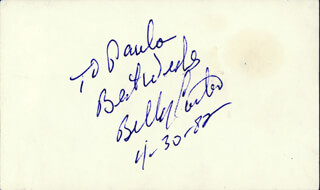 Autographs: BILLY CARTER - AUTOGRAPH NOTE SIGNED 04/30/1982