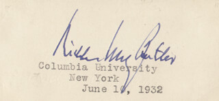 Autographs: NICHOLAS MURRAY BUTLER - SIGNATURE(S) 06/10/1932