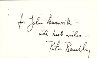 PETER BENCHLEY - INSCRIBED SIGNATURE