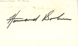 HOWARD H. BAKER JR. - AUTOGRAPH