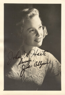 JUNE ALLYSON - AUTOGRAPHED INSCRIBED PHOTOGRAPH