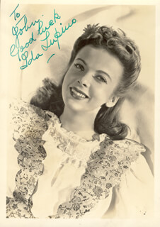 IDA LUPINO - AUTOGRAPHED INSCRIBED PHOTOGRAPH