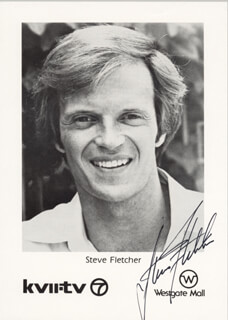 STEVE FLETCHER - PRINTED PHOTOGRAPH SIGNED IN INK