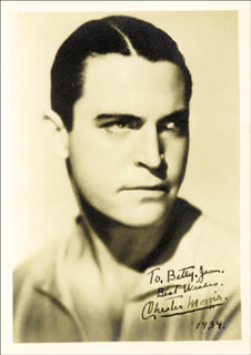 CHESTER MORRIS - AUTOGRAPHED INSCRIBED PHOTOGRAPH 1934