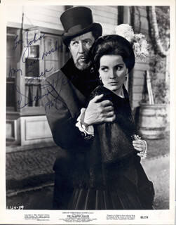 VINCENT PRICE - AUTOGRAPHED INSCRIBED PHOTOGRAPH 1967