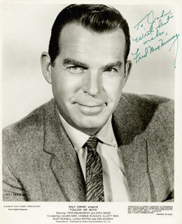 FRED MacMURRAY - INSCRIBED PRINTED PHOTOGRAPH SIGNED IN INK