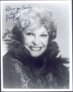 MARTHA RAYE - AUTOGRAPHED INSCRIBED PHOTOGRAPH