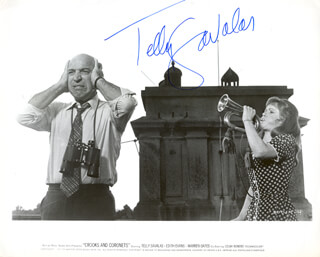 TELLY SAVALAS - PRINTED PHOTOGRAPH SIGNED IN INK