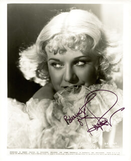 GINGER ROGERS - PRINTED PHOTOGRAPH SIGNED IN INK