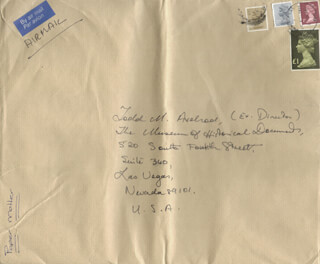 NYREE DAWN PORTER - AUTOGRAPH ENVELOPE UNSIGNED