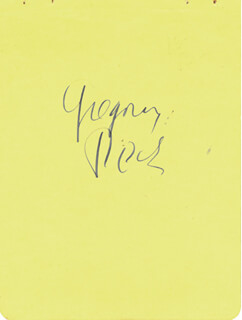 GREGORY PECK - AUTOGRAPH CO-SIGNED BY: RAY MCDONALD