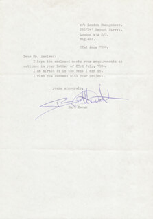 BURT KWOUK - TYPED LETTER SIGNED 08/22/1984