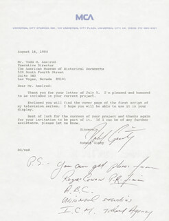 ROBERT GINTY - TYPED LETTER SIGNED 08/16/1984