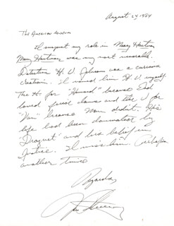 RONALD FEINBERG - AUTOGRAPH LETTER SIGNED 08/24/1984