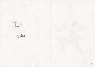 JOHN PHILLIPS - PRINTED CARD SIGNED IN INK 03/24/1982