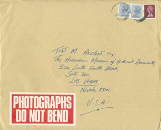 CHRISTOPHER FARRIES - AUTOGRAPH ENVELOPE UNSIGNED 08/03/1984