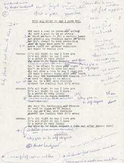 ANDRE LANDZAAT - TYPED LYRIC(S) SIGNED