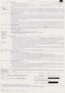 ROBIN BAILEY - CONTRACT DOUBLE SIGNED 04/06/1983