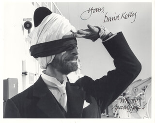 DAVID KELLY - AUTOGRAPHED SIGNED PHOTOGRAPH