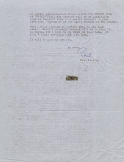 PAUL JARRICO - TYPED LETTER SIGNED 06/05/1964