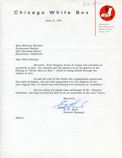 ED SHORT - TYPED LETTER SIGNED 06/13/1963