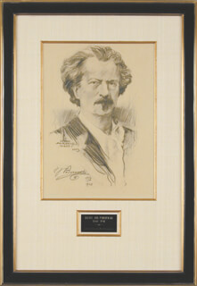 IGNACY JAN PADEREWSKI - ORIGINAL ART SIGNED 1923 CO-SIGNED BY: LEVON FAIRCHILD WEST