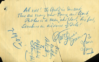 GEORGE FRANCIS TRAIN - AUTOGRAPH POEM SIGNED 07/19/1902