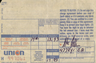 WILLIAM HOLDEN - RECEIPT SIGNED 05/29/1979