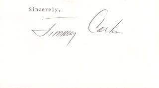 Autographs: PRESIDENT JAMES E. JIMMY CARTER - TYPED SENTIMENT SIGNED